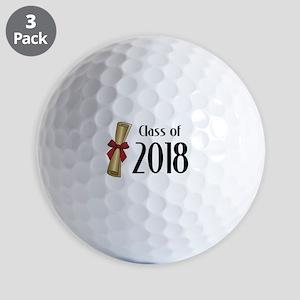 Class of 2018 Diploma Golf Balls