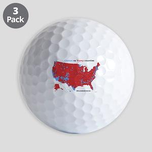 Trump vs Clinton Map Golf Balls