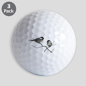 chickadee song birds Golf Balls