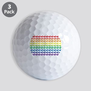 Rainbow Doxies Golf Balls