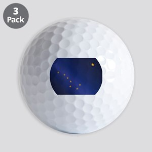 Flag of Alaska Gloss Golf Balls