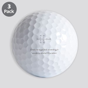 Alcohol Is A Solution Ball Golf Balls