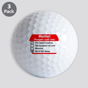 Hello My Name is.... Golf Balls