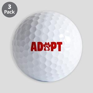 Cute Pets Paw Cat Dog Adopt Red Golf Balls