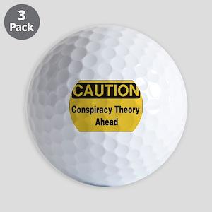 Caution Conspiracy Theory Ahead Golf Ball