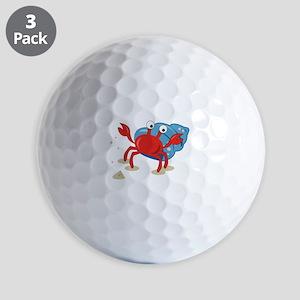 Dancing Crab Golf Ball