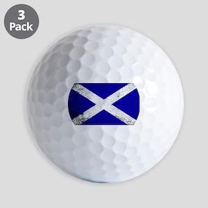 Scotish Flag Grunge Golf Balls