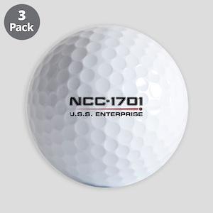 USS Enterprise Refit Dark Golf Balls