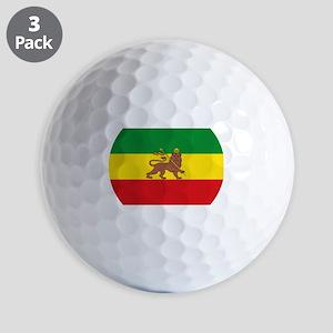 Ethiopia Flag Lion of Judah Rasta Reggae Golf Ball