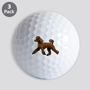 red poodle Golf Ball
