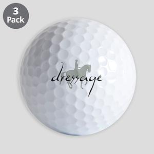 Dressage Silhouette Text Golf Ball