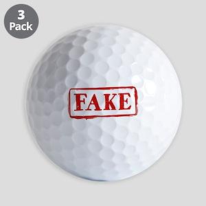 FAKE Stamp: Funny Graphic Golf Balls