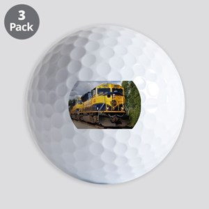 Alaska Railroad engine locomotive Golf Balls