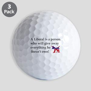 anti liberal give away Golf Ball