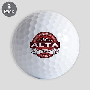 Alta Red Golf Balls