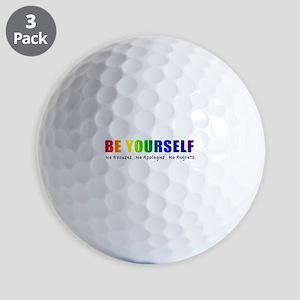 Be Yourself (Rainbow) Golf Balls
