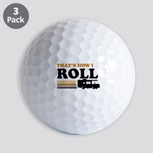 Thats How I Roll (RV) Golf Balls