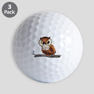 Vintage Owl Golf Balls