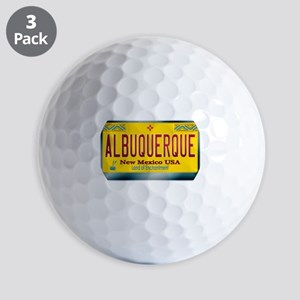 newmexico_licenseplate_albuquerque Golf Balls