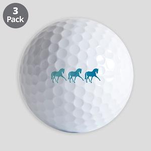 Dressage Horse Sidepass Blue Ombre Golf Balls