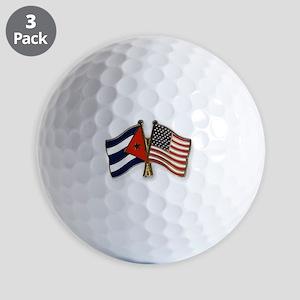 Cuban flag and the U.S. flag Golf Balls