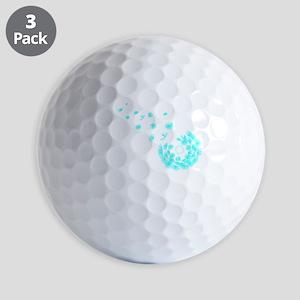 Dandelion aqua Golf Balls