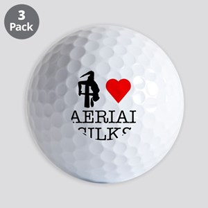I Love Aerial Silks Golf Balls