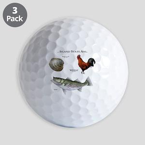 Rhode Island State Animals Golf Balls