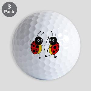 Funny Ladybugs Dancing Golf Balls
