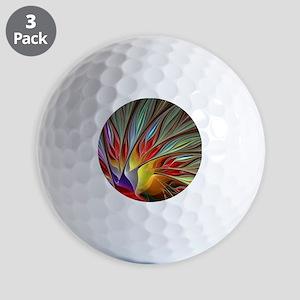 Fractal Bird of Paradise Golf Balls