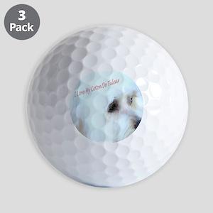 I Love My Coton De Tulear  Golf Balls
