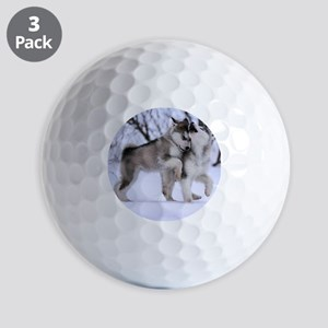 Wolves Playing Golf Balls