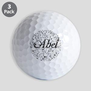 Abel, Matrix, Abstract Art Golf Balls