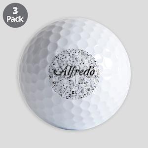 Alfredo, Matrix, Abstract Art Golf Balls