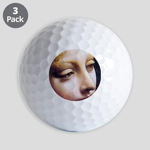 Leonardo da Vinci - Angel (detail) Golf Ball