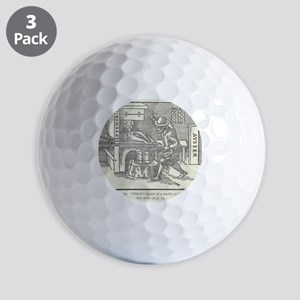 Magnetizing cooling iron Golf Balls