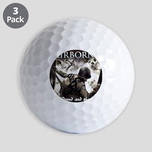 2-Airborne.moh.mousepad Golf Balls