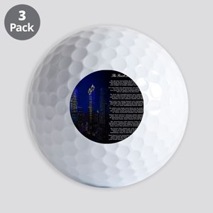 The Finish Line of Victory Poem Golf Balls