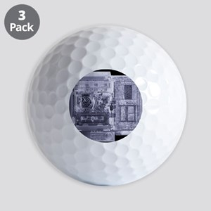 Video recorder, simulated X-ray Golf Balls