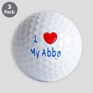 i love my abba Golf Balls