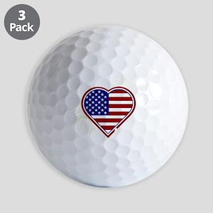 Alabama Heart Flag Fireworks Navy T-shi Golf Balls