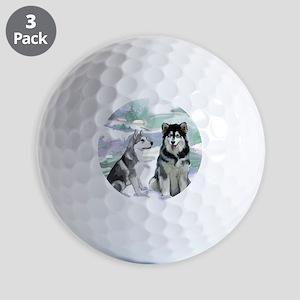 alaskan_malamute_fat quarter Golf Balls