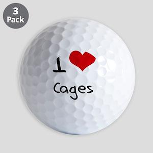 I love Cages Golf Balls