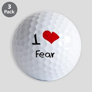I Love Fear Golf Balls