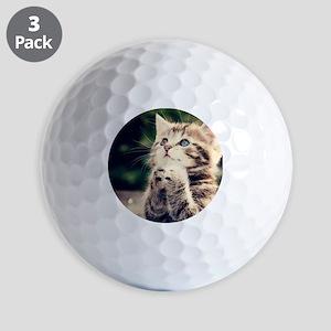 Cat Praying Golf Balls