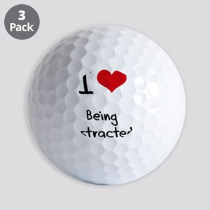 I Love Being Distracted Golf Balls
