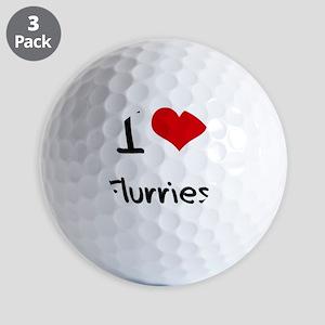 I Love Flurries Golf Balls