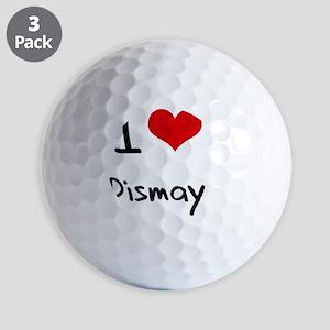 I Love Dismay Golf Balls