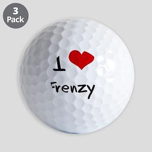 I Love Frenzy Golf Balls