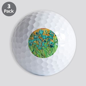 van gogh teal irises Golf Ball
